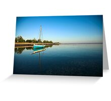 Blue dhow in paradise Greeting Card