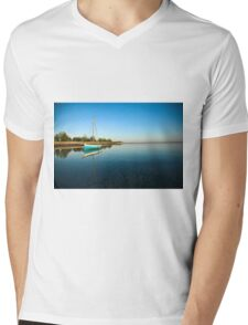 Blue dhow in paradise Mens V-Neck T-Shirt