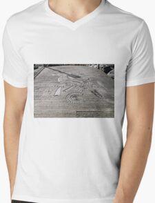 Fossil Sculptures, Whitby East Pier Mens V-Neck T-Shirt