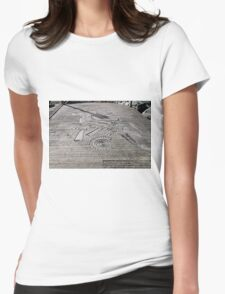 Fossil Sculptures, Whitby East Pier Womens Fitted T-Shirt