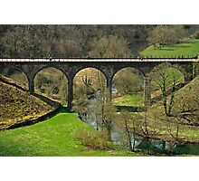 Cyclists on the Headstone Viaduct Photographic Print