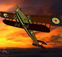 Handley Page 0/400 WWI biplane bomber - all products except duvet by Dennis Melling