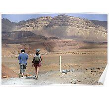 Hiking in the desert Poster