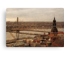Riga from above Canvas Print