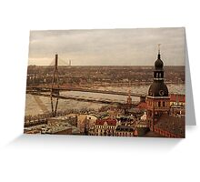Riga from above Greeting Card