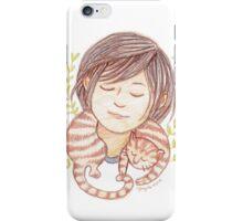 Sleeping Marmalade Tabby iPhone Case/Skin
