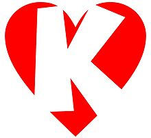 I love K - Heart K - Heart with letter K by theshirtshops