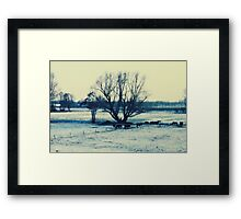 Winter - JUSTART © Framed Print