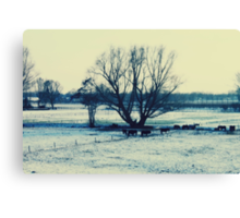 Winter - JUSTART © Canvas Print