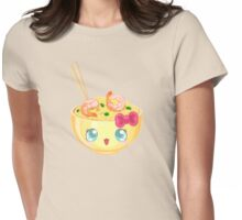 Kawaii udon noodles with shrimp Womens Fitted T-Shirt