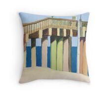 St. Johns County Pier at St. Augustine Beach, FL Throw Pillow
