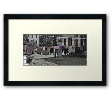 Daily shag poetry (purple) Framed Print