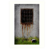 Rusty window Art Print