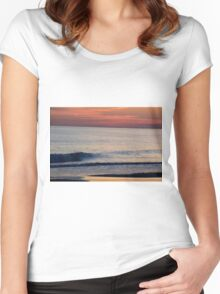 Sunset Wave Women's Fitted Scoop T-Shirt