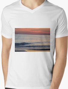 Sunset Wave Mens V-Neck T-Shirt