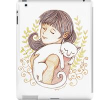 Sleeping White Cat iPad Case/Skin