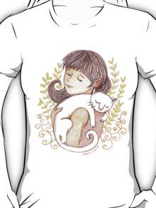 Sleeping White Cat T-Shirt