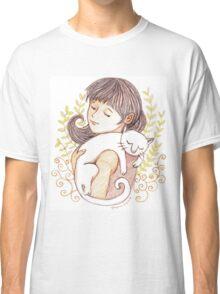 Sleeping White Cat Classic T-Shirt