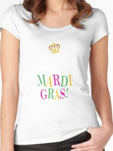 Keep Calm and Mardi Gras Women's Fitted Scoop T-Shirt