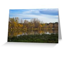 Fall Reflection in Water Greeting Card