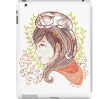 Sleeping Calico Cat iPad Case/Skin