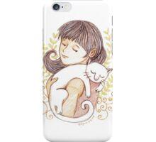 Sleeping White Cat iPhone Case/Skin