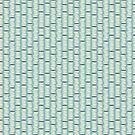 Rice Pattern on Teal Background by Hilda Rytteke