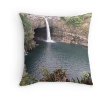 Rainbow Falls Hilo, Hi. Throw Pillow