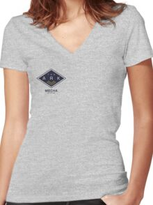 The Ark - Mecha Station Women's Fitted V-Neck T-Shirt