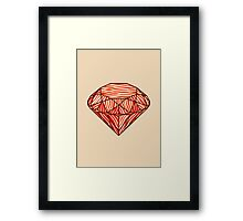 Bacon diamond Framed Print
