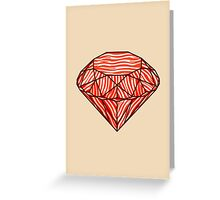 Bacon diamond Greeting Card