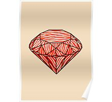 Bacon diamond Poster