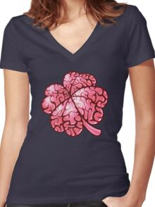 Smart thinking or just dumb luck? Women's Fitted V-Neck T-Shirt