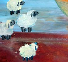 close up sheep by messydesk