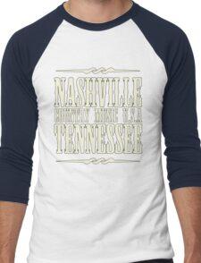 Nashville  Tennessee Country Music Men's Baseball ¾ T-Shirt
