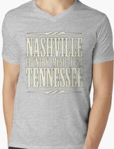 Nashville  Tennessee Country Music Mens V-Neck T-Shirt