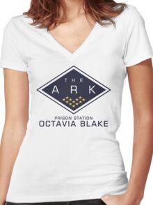 The 100 - Octavia Blake Women's Fitted V-Neck T-Shirt