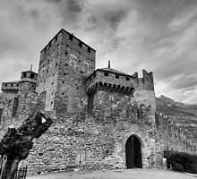 Castle of Fenis, Front View - Italy by joeschmied