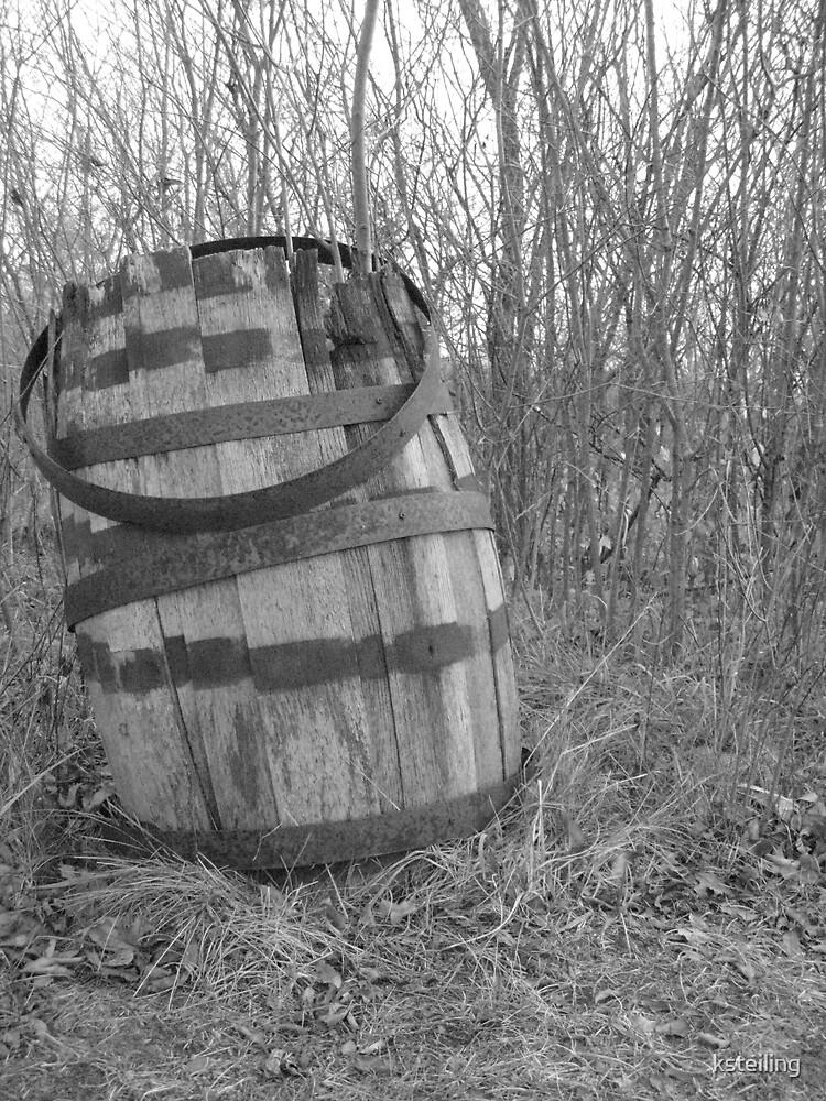 barrel in brush by ksteiling
