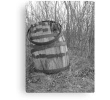 barrel in brush Canvas Print
