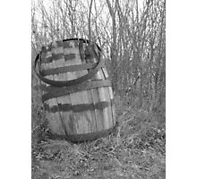 barrel in brush Photographic Print