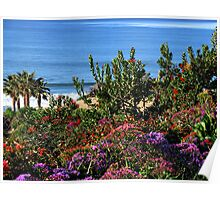 Purple Ocean View Poster
