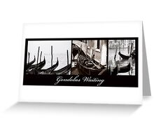 Gondolas Waiting Greeting Card