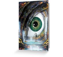 Reptile eye Greeting Card