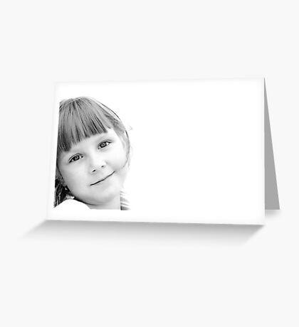 Her eyes Greeting Card