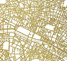 Paris gold map by AnnaGo