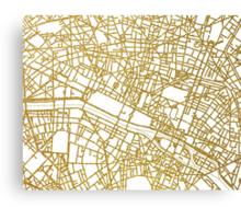 Paris gold map Canvas Print