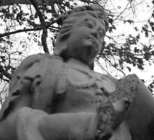 statue in garden by ksteiling