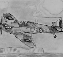 Hurricane above the cliffs of Dover by warrior1944