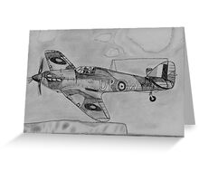 Hurricane above the cliffs of Dover Greeting Card